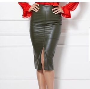 Eva Mendes for NY&Co front split pencil skirt
